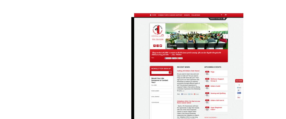 client gilda's club simcoe muskokawebsite