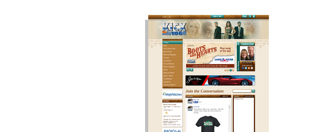 client kicx website