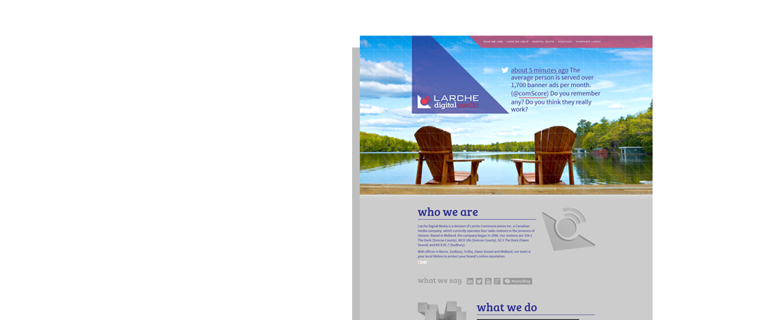 client larche digital media website