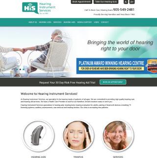 Hearing Instrument Services Website