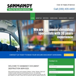 Sanmandy Shredding Website