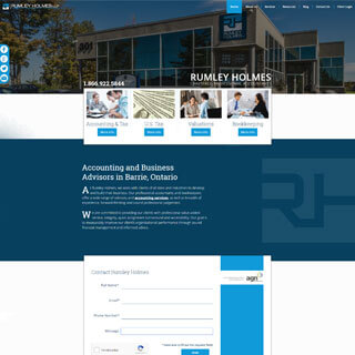 Rumley Holmes Chartered Accountants website