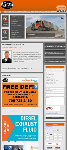 Sarjeant Co. Ltd. Website