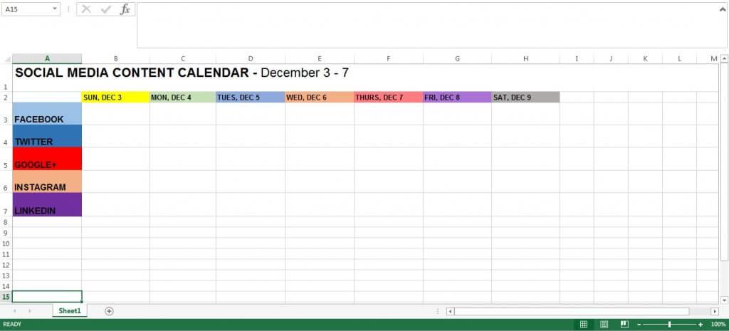 How To Build A Social Media Content Calendar Net Gain Seo