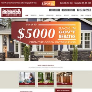 Kempenfelt Windows website Newmarket Ontario