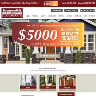 kempenfelt windows and doors website