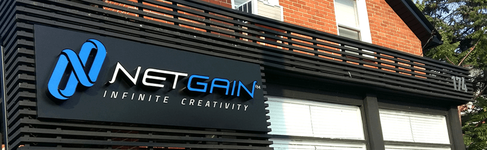 NetGain Building Sign