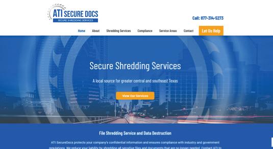 ATI Secure Docs Homepage Design