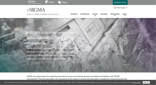 i-SIGMA Homepage Design