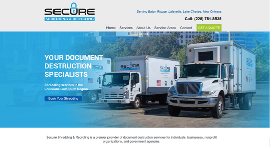 Secure Shredding & Recycling Homepage
