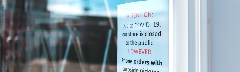 COVID-19 Storefront Sign